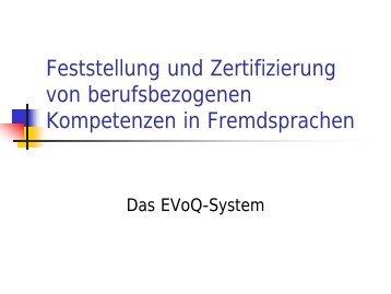 Zertifizierung von berufsbezogenen Kompetenzen in Fremdsprachen ...