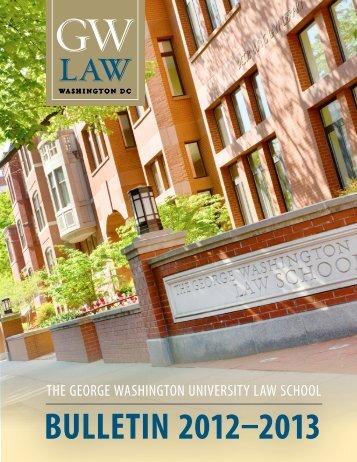 The Bulletin - George Washington University Law School
