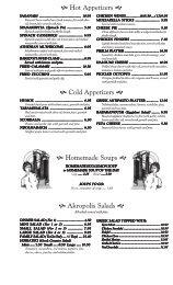 to print black & white menu - Akropolis!