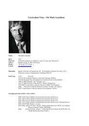 Curriculum Vitae – Ole Mørk Lauridsen