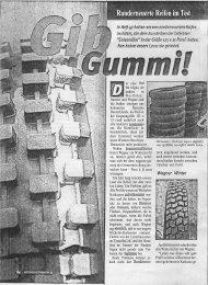 Runderneuerte Reifen im Test - Reifen Immler