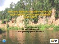 Izmaiņas Salacas augstāko ūdensaugu sugu sastāvā un aizauguma ...
