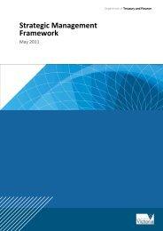 Strategic Management Framework guide - Department of Treasury ...