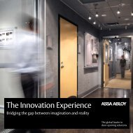 The Innovation Experience - ASSA ABLOY Door Security Solutions