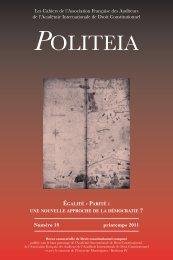 politea 19 - CRDEI - Université Montesquieu - Bordeaux IV