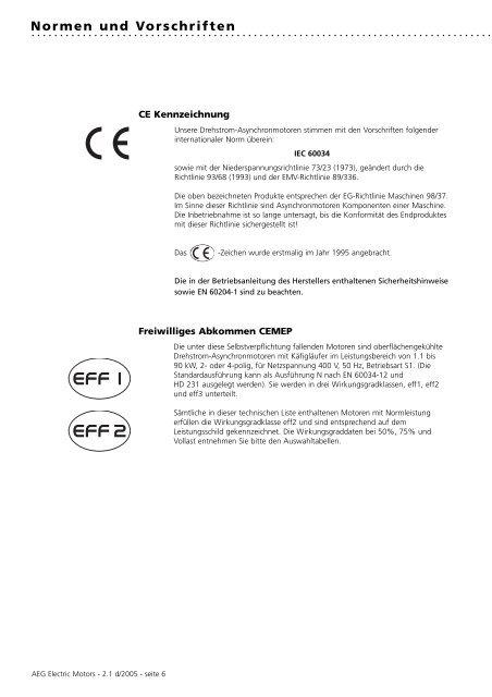 Normen und Vorschriften - AsEG Antriebstechnik GmbH