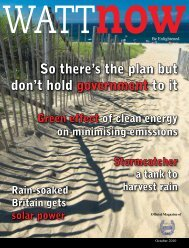 download a PDF of the full October 2010 issue - Watt Now Magazine