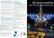 Informations pratiques Practical information - Documentation Centre ...