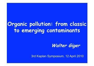 Organic pollution
