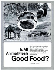 Is All Animal Flesh Good Food? PDF - Church of God Faithful Flock