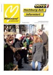 Ausgabe 01/2013 - Hochburg-Ach - ÖVP Oberösterreich