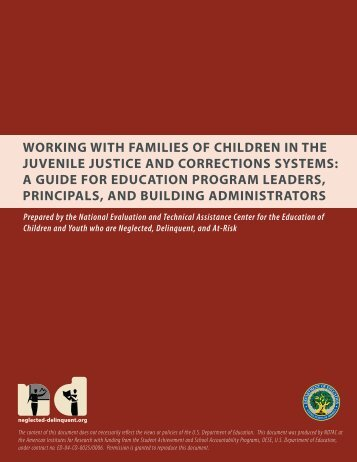 Working With Families of Children in the Juvenile Justice - NDTAC