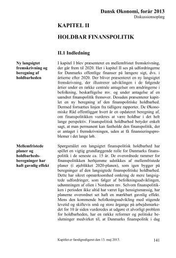Dansk Økonomi, forår 2013, Kapitel 2 Holdbar finanspolitik
