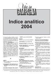 Indice analitico 2004 - L'Informatore Agrario