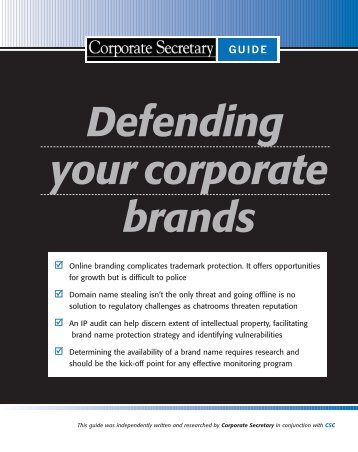 Issues &Insights - Corporation Service Company