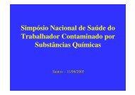Simpósio Nacional de Saúde do Trabalhador Contaminado ... - ACPO