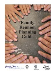 2007 Family Reunion Planning Guide - Lancaster County