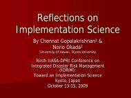 Reflections on Implementation Science - Nexus-idrim.net