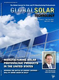 MaNufacTuRING SolaR PhoToVolTaIc PRoducTS IN The uNITed ...