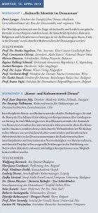 1. Internationale Donau-Kulturkonferenz - Europäische Donau ... - Seite 4