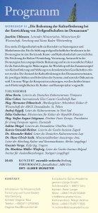 1. Internationale Donau-Kulturkonferenz - Europäische Donau ... - Seite 5