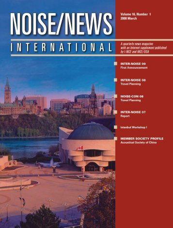 Volume 16, Number 1, March, 2008 - Noise News International
