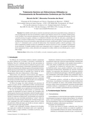 Tratamento Químico em Hidrociclones Utilizados no Processamento ...
