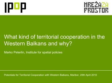 What kind of territorial cooperation in the Western Balkans ... - Cilj 3
