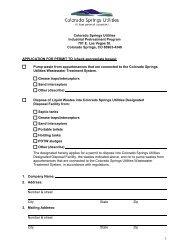 Permit application - Colorado Springs Utilities