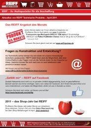 REIFF auf Facebook 2011 - REIFF Technische Produkte