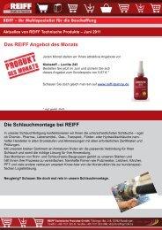 Die Schlauchmontage bei REIFF - REIFF Technische Produkte