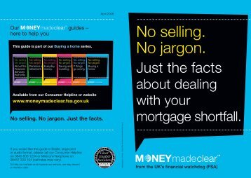 Just the facts about dealing with your mortgage shortfall