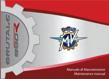 Brutale_990 (2011) Manual Mantenimiento ... - MV Agusta