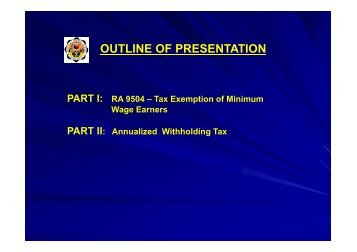RCL - Annualized Withholding Tax