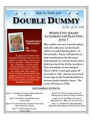 June 2009 Double dummy - Marin Unit #508