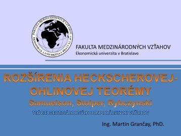 P - Fakulta medzinárodných vzťahov - Ekonomická univerzita v ...