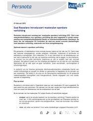 Stad Roeselare introduceert masterplan openbare verlichting - Eandis