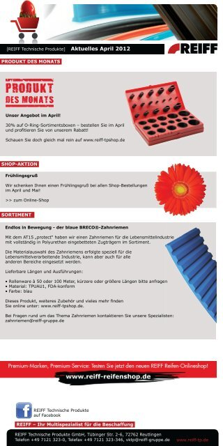 nEu! www.reiff-tpshop.de - REIFF Technische Produkte