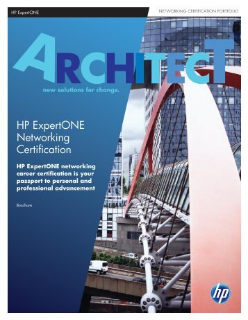 HP ExpertONE Networking Certification - Hewlett Packard
