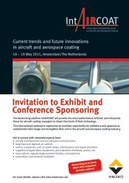 Invitation to Exhibit and Conference Sponsoring - IntAIRCOAT