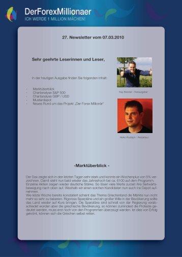 Newsletter vom 07.03.2010 - Der Forex Millionaer