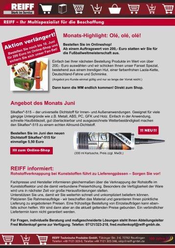 TP Shop_NL_62010.indd - REIFF Technische Produkte