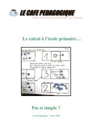 Le calcul à l'école primaire - Café pédagogique