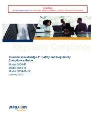 Tsunami QuickBridge.11 Safety and Regulatory Compliance Guide ...