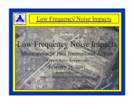 Low Frequency Noise Impacts at MSP - Oakland International ...