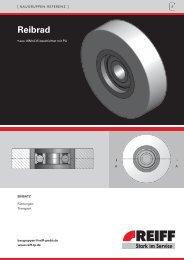 Reibrad - REIFF Technische Produkte