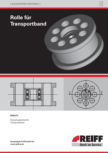 Rolle für transportband - REIFF Technische Produkte