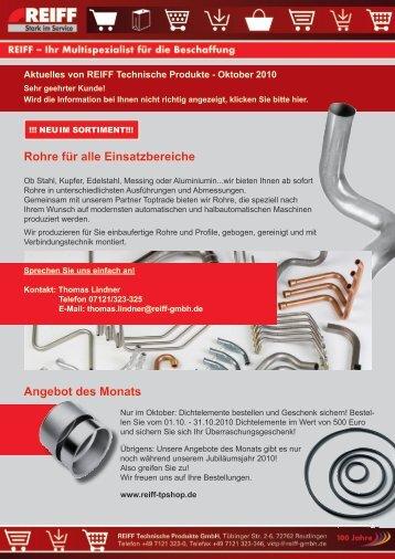 Rohre für alle Einsatzbereiche - REIFF Technische Produkte