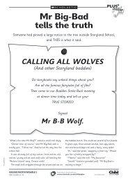 Mr Big-Bad tells the truth - Scholastic