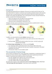 Quick Start Guide - TestCase-Design - TRICENTIS